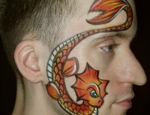 Step-by-step Sea Dragon Face Painting – by Bethany McLean!