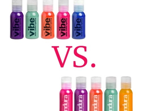 Endura vs. Vibe Airbrush Inks